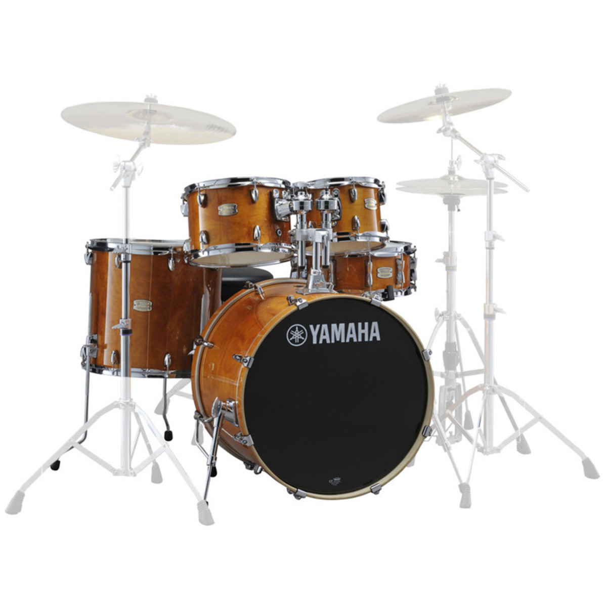 yamaha stage custom birch 22 39 39 5 piece shell pack honey amber at gear4music. Black Bedroom Furniture Sets. Home Design Ideas