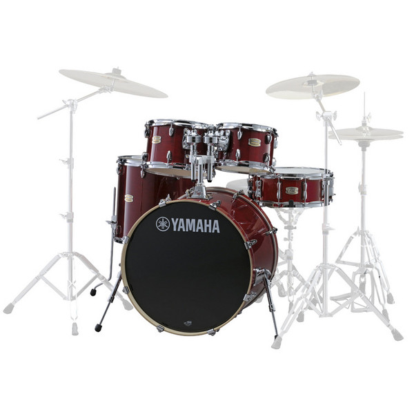 Yamaha Stage Custom Birch 20'' 5 Piece Shell Pack, Cranberry Red
