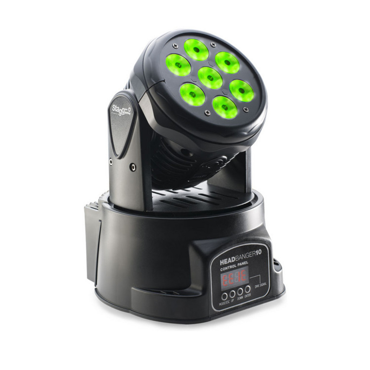 stagg led headbanger moving head light with 7 x 10w rgbw 4in1 led