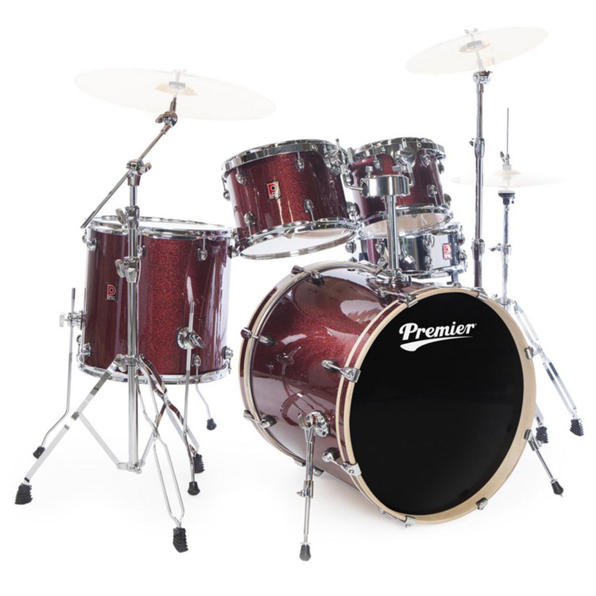 DISC Premier APK Modern Rock 5 Piece Drum Kit, Red Solar Wrap