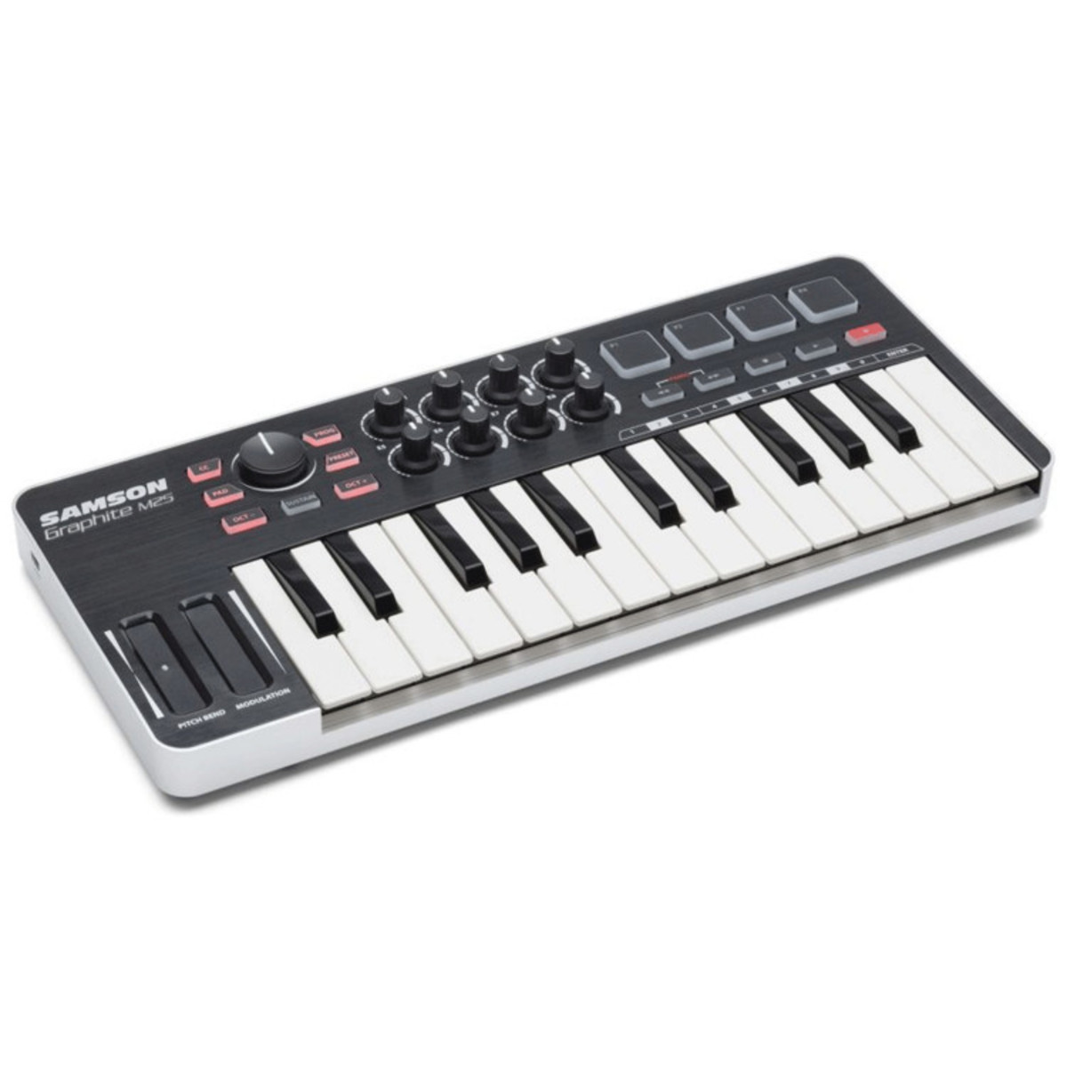 samson graphite 25 note mini usb and ipad midi keyboard nearly new at gear4music. Black Bedroom Furniture Sets. Home Design Ideas