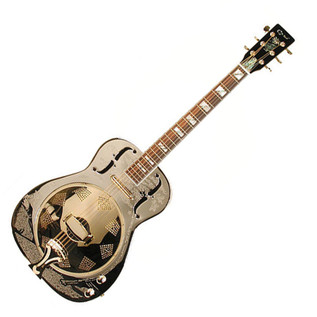 Ozark 3515BTE Resonator Guitar, Thinline
