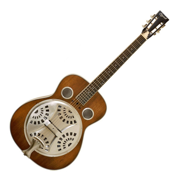 Ozark 3515DD Wooden Resonator Guitar, Distressed
