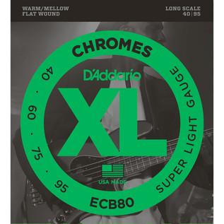 D'Addario ECB80 Flatwound Bass Strings (40-95)