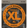 D'Addario EHR340 Cordes à filet demi-rond pour guitare électrique, Light Top/Heavy Bottom, 10-52
