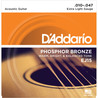 D'Addario EJ15 bronzo fosforoso, Extra leggero, 10-47