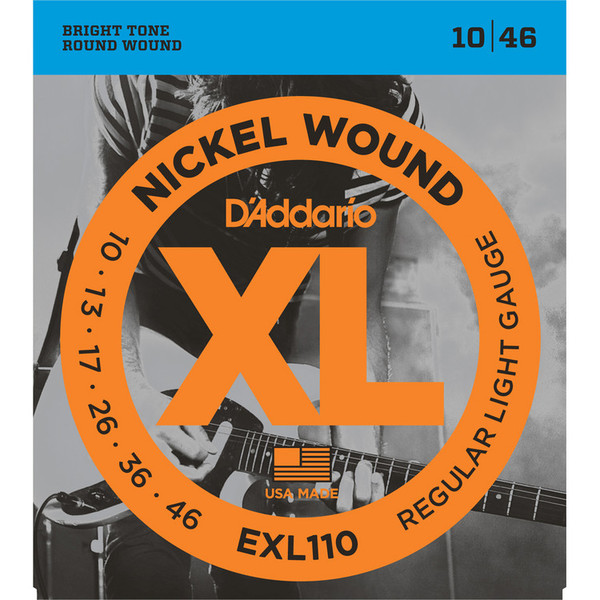 D'Addario EXL110 Electric Guitar Strings, Regular Light 10-46