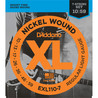 D'Addario EXL110-7 Cordes en nickel pour guitare électrique 7 cordes, Regular Light, 10-59
