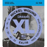 D'Addario EXL116 nikkel sår, medium Top/Heavy nederst, 11-52
