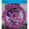 D'Addario EXL120 Cordes en nickel pour guitare électrique, Super Light, 9-42