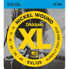 D'Addario EXL125 Nickel Wound, Super Light Top/ Regular Bottom 9-46