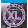 D'Addario EXL190 bassokitaran kielet, mukautetut kevyet 40-100, pitkä skaala