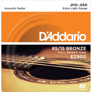 D'Addario EZ900 85/15 Great American Bronze, Extra Light, 10-50