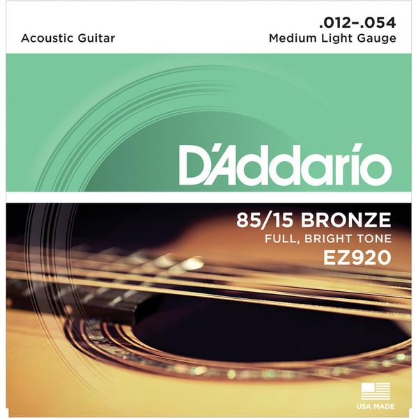 D'Addario EZ920 85/15 Great American Bronze, Medium Light, 12-54