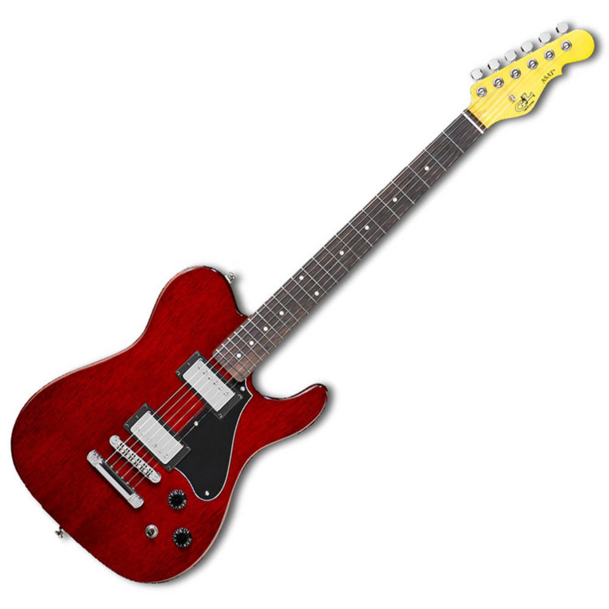 disc g l asat deluxe ii guitare lectrique rouge trans. Black Bedroom Furniture Sets. Home Design Ideas