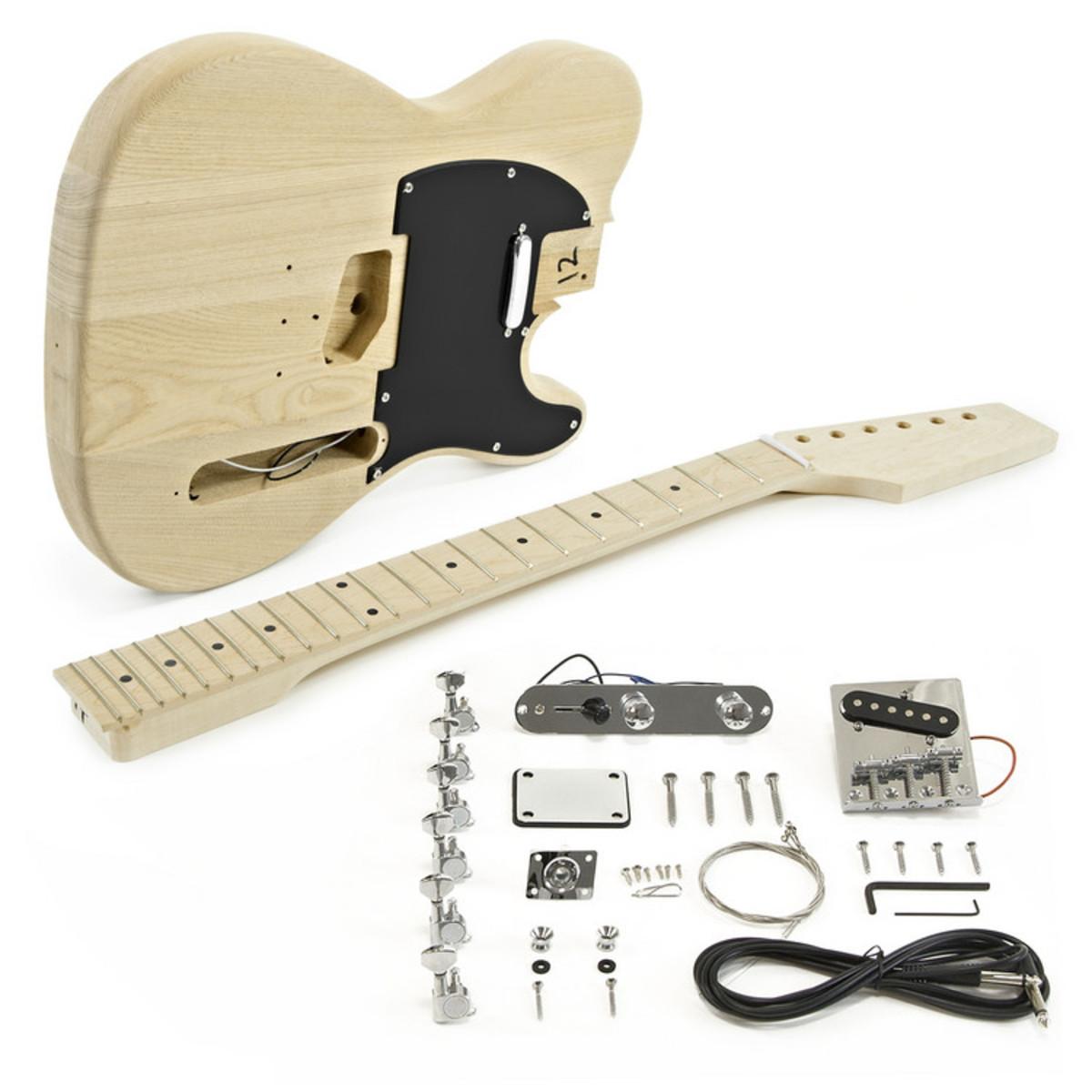 Knoxville-E-Gitarre, Eschenkorpus, Bausatz | Gear4music