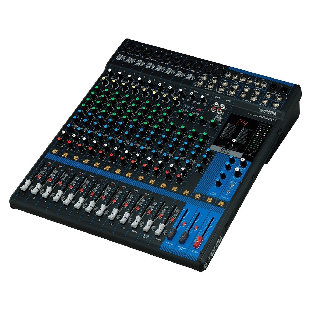 Yamaha mg16xu table de mixage analogique usb gear4music for Table yamaha