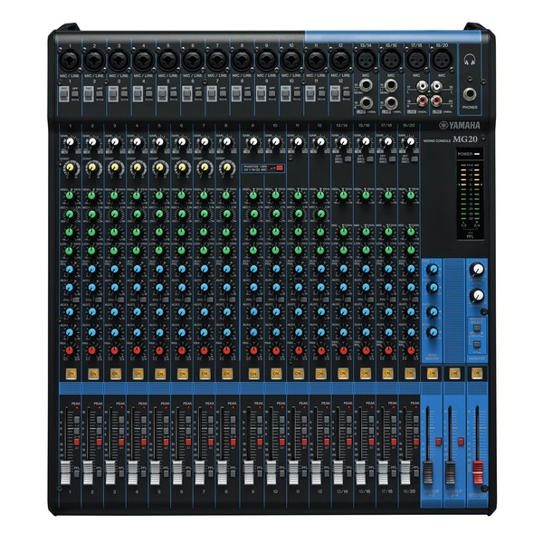 Yamaha MG20 Analog Mixer - Top
