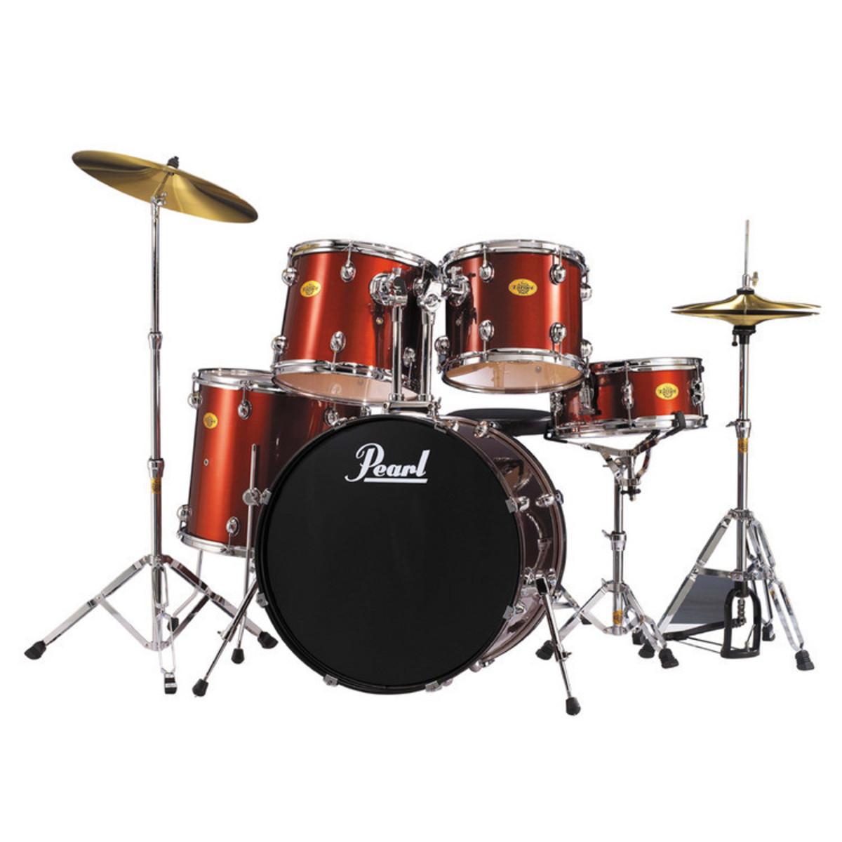 pearl target acoustic drum kit wine red ex demo at gear4music. Black Bedroom Furniture Sets. Home Design Ideas