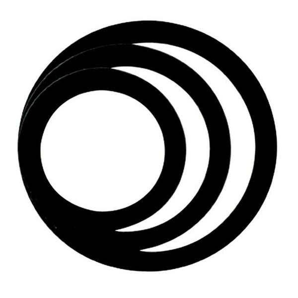 Remo 5, 7, 9 Inch Dynamo Holes, Black
