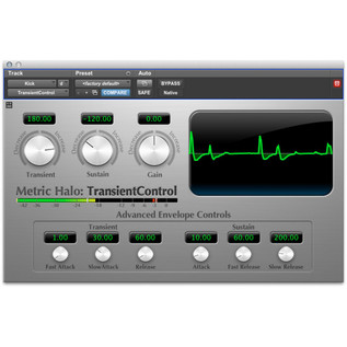 Metric Halo TransientControl Plug-In for AAX/Audio Units