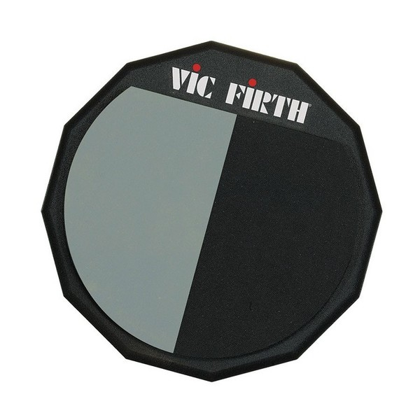 Vic Firth 12'' Split Practice Pad with Soft and Hard Rubber