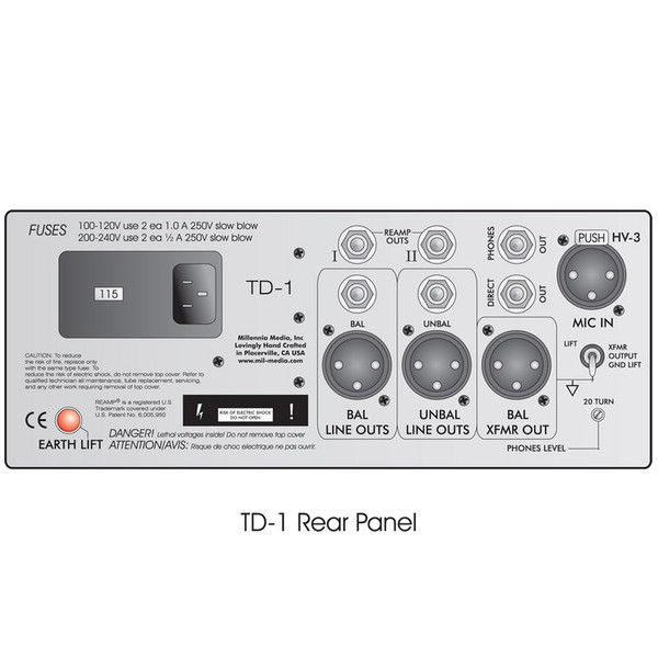 TD-1 Single Channel Class A Music Recording System