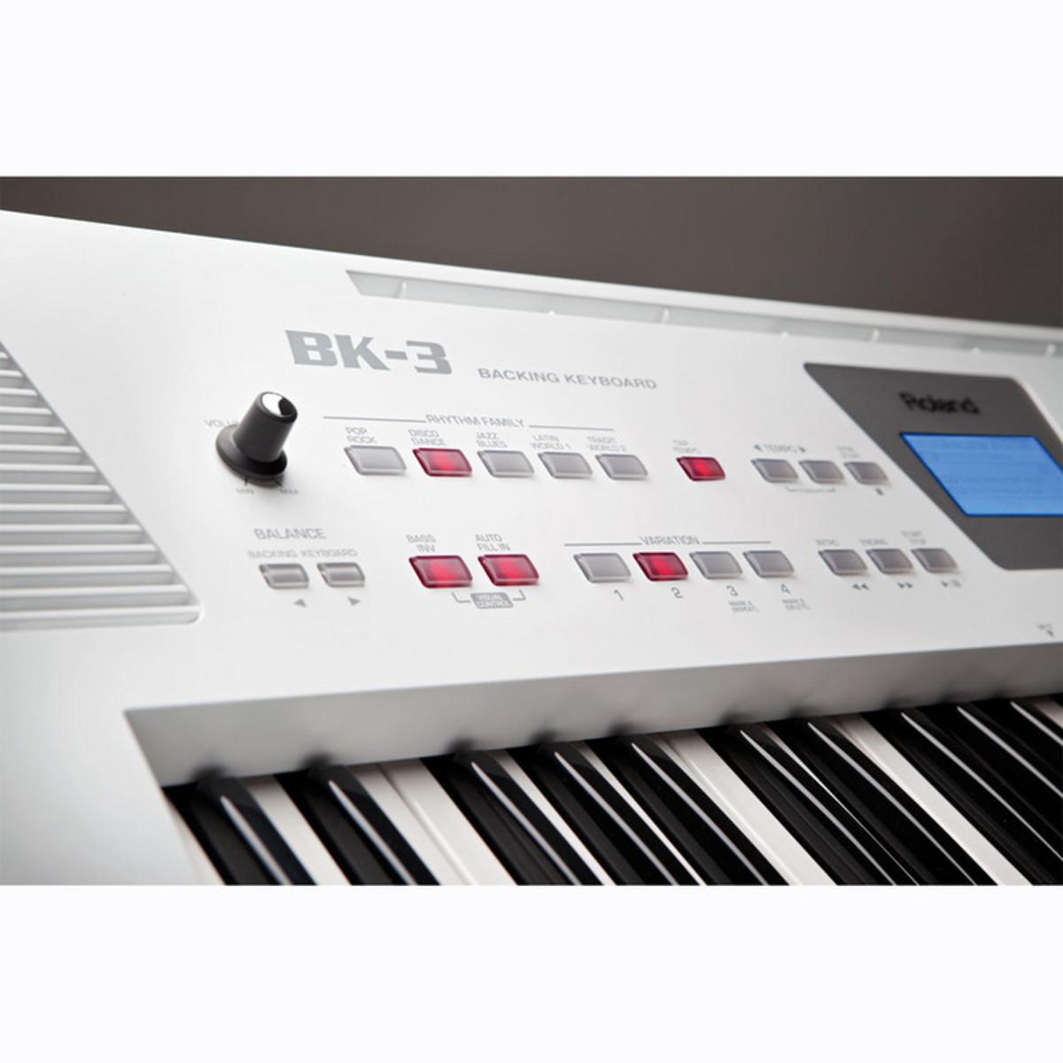 Roland Bk 3 : roland bk 3 compact backing keyboard white ex demo at gear4music ~ Vivirlamusica.com Haus und Dekorationen