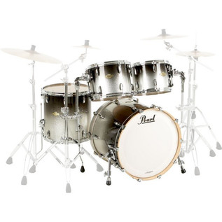 Pearl Masters Maple MCX 22'' Fusion Shell Pack, Black Sparkle Fade