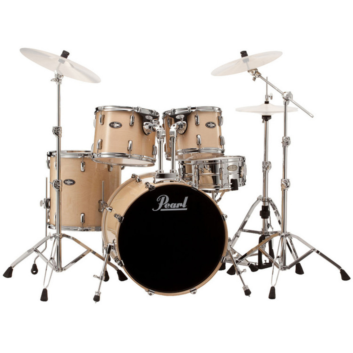 pearl vision birch lacquer vbl 22 39 39 rock drum kit clear birch at gear4music. Black Bedroom Furniture Sets. Home Design Ideas