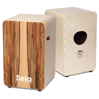 Sela CaSela Pro Cajon with Snare On/Off Switch, Satin Nut
