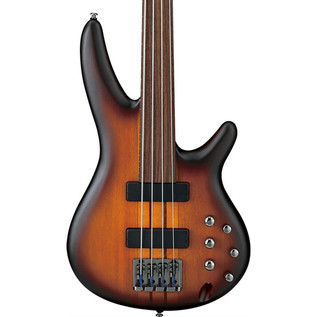 Ibanez SRF700 Bass Guitar, Brown Burst Flat