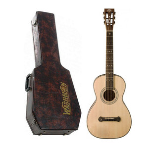 Washburn R315K Vintage Series Parlour Acoustic Guitar, Natural Satin