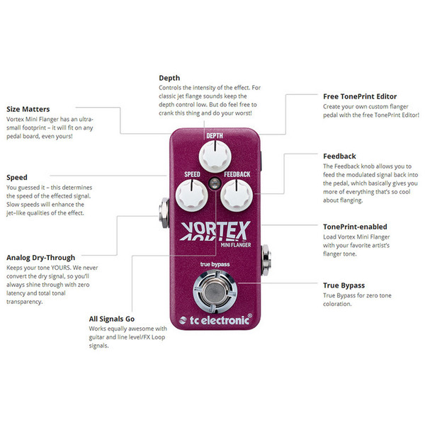 TC Electronic Vortex Mini Flanger Pedal