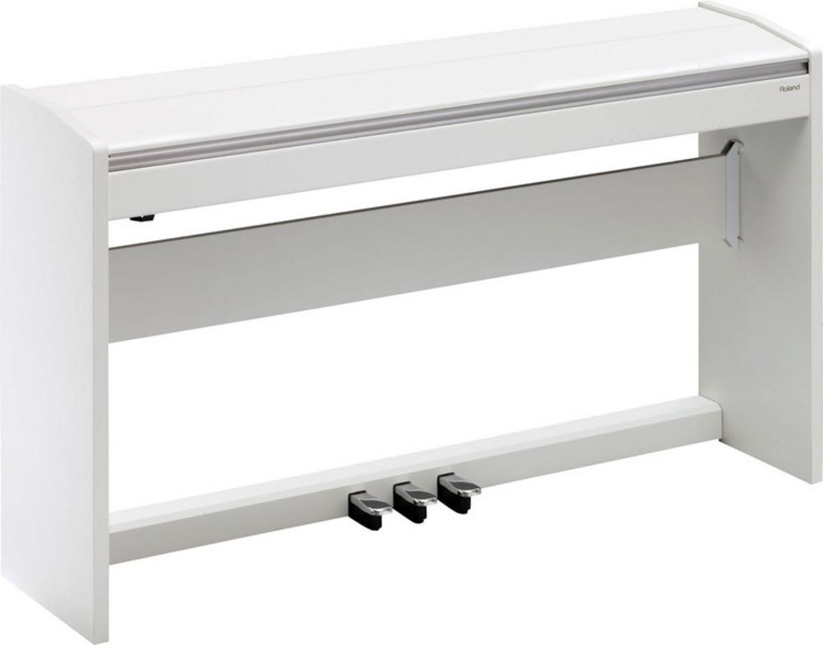 Roland f120 pianoforte digitale sgabello regolabile bianco