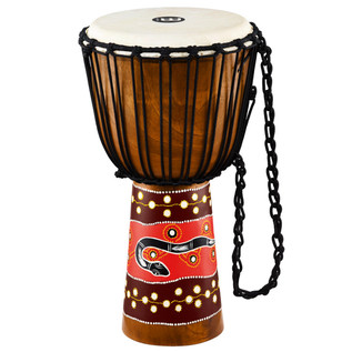 Meinl Headliner Series Rope Tuned 12 Inch Djembe, Python