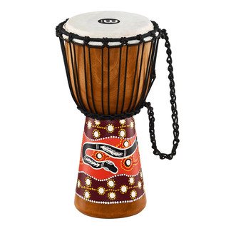 Meinl Headliner Series Rope Tuned 8 Inch Djembe, Python