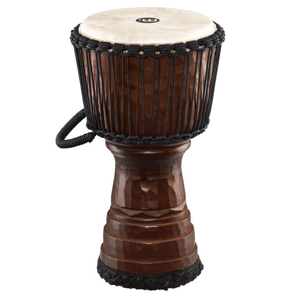 Meinl Tongo Carved 10 inch Djembe, Brown