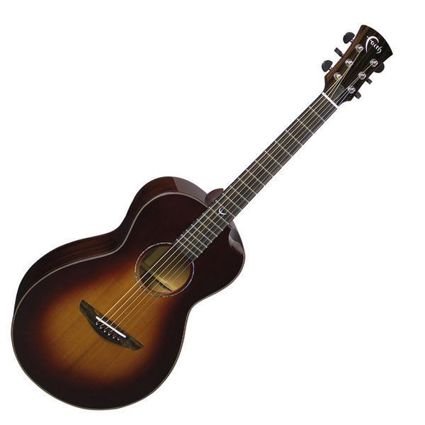 Faith Mercury Parlour Acoustic Guitar, Classic Burst