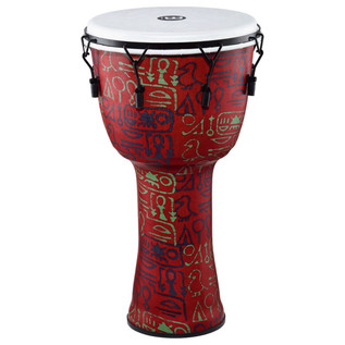 Meinl Travel Series 14 Inch Djembe Synthetic Head, Pharaoh's Script
