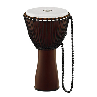 Meinl Journey Series 12 Inch Fibreglass Djembe Synthetic Head, Brown