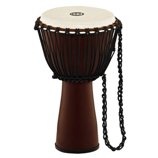 Meinl Journey Series 10 Inch Fibreglass Djembe Goat Head, Brown