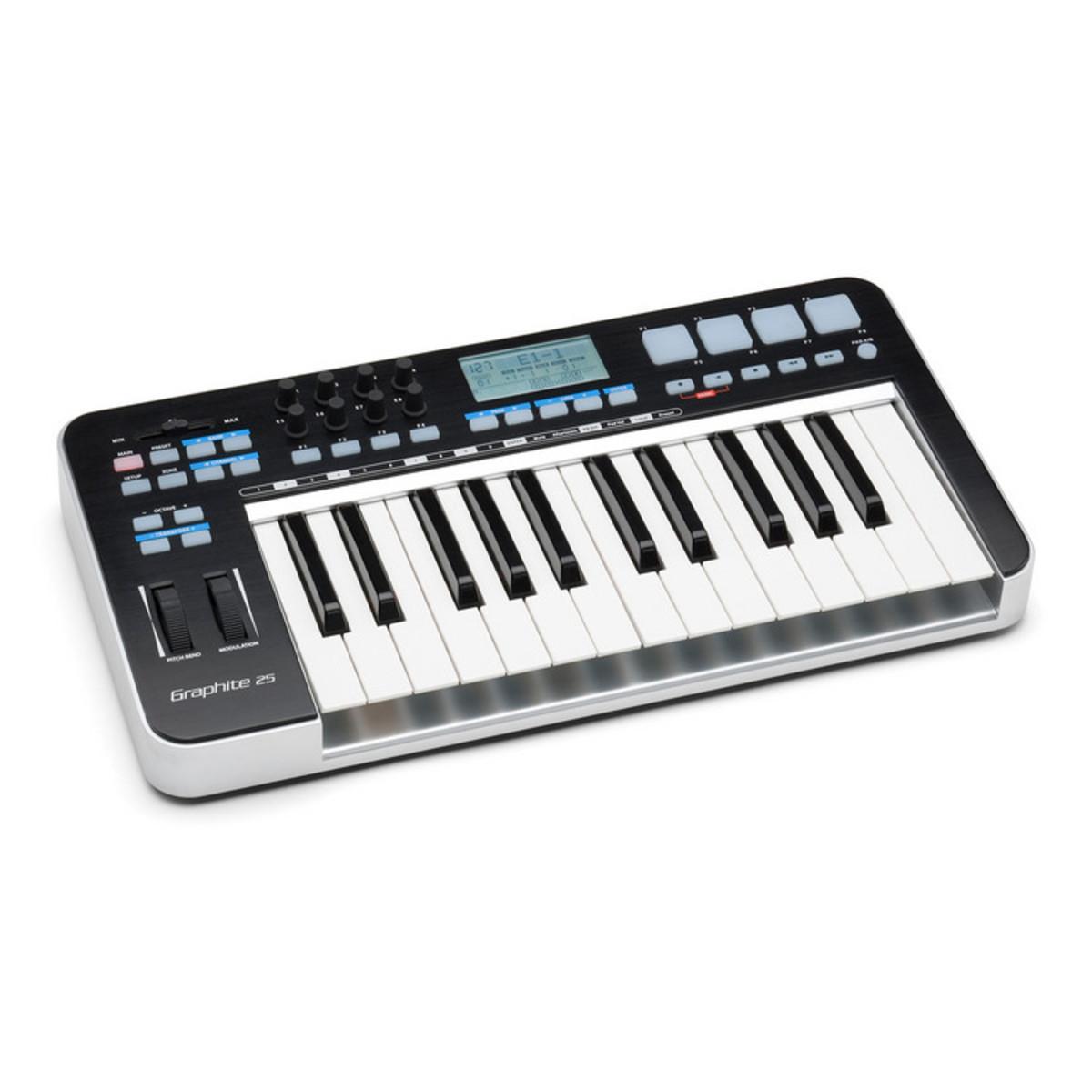 samson graphite 25 usb midi controller keyboard nearly new at gear4music. Black Bedroom Furniture Sets. Home Design Ideas