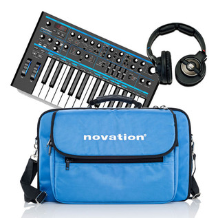 Novation Bass Station Bundle w/ Bag and Focusrite KNS-6400 Headphones