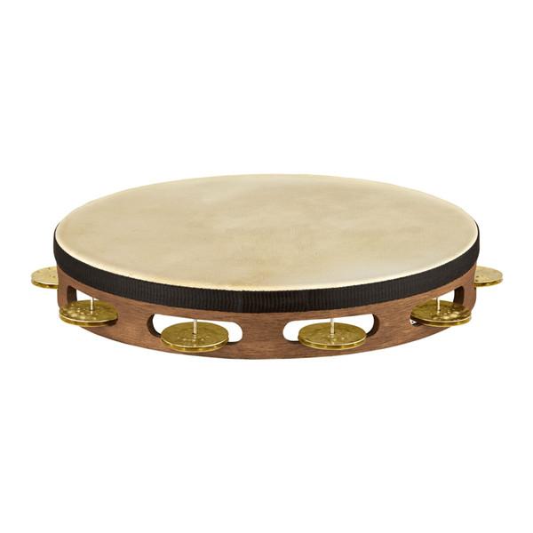 Meinl Vintage Goat Skin 1 Row Tambourine, Walnut Brown