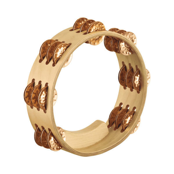 Meinl Artisan Edition Compact 8 Inch Tambourine 3 Rows Bronze Jingles