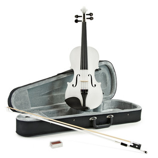 Student 4/4 Violin, White, by Gear4music