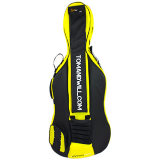 Tom and Will 3/4 Cello Gig Bag, Yellow and Black