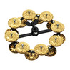 Meinl Headliner Series Hi-Hat Tambourine, 2 Row Brass Jingles