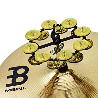 Meinl Headliner Series Hi-Hat Tambourine, 2 Row Brass Jingles